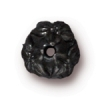 Bead Cap Jasmine 7mm . Black